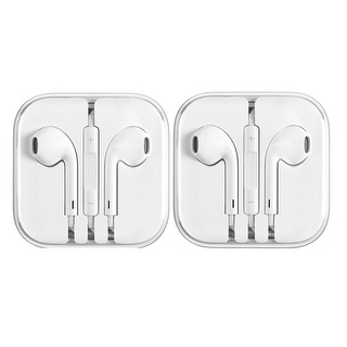 Link to Apple Earphone 3.5 mm Universal Headphones with Remote and Mic White 2 Pack Refurbished Similar Items in Headphones