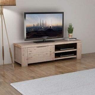 "vidaXL TV Cabinet Solid Brushed Acacia Wood 55""x15""x15.7"""