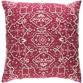 Link to Decorative Saintes Maroon 22-inch Throw Pillow Cover Similar Items in Decorative Accessories