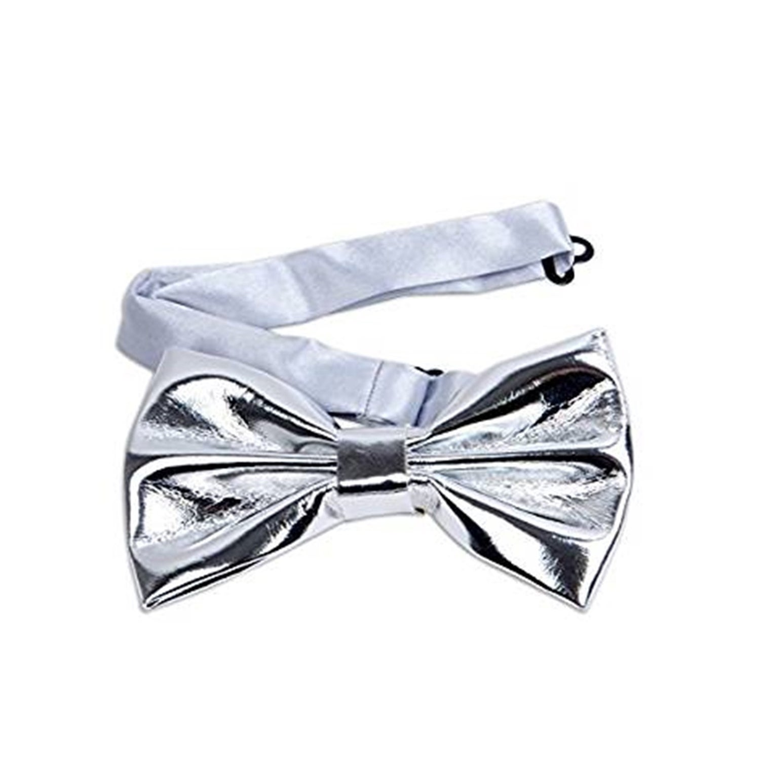 MEN/'S BOW TIE GEOMETRIC GOLD BLUE TIE PIPING HANKY PRE-TIED BOW ADJUSTABLE CLIP