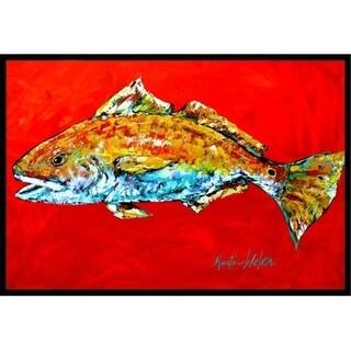 Carolines Treasures MW1111MAT 18 x 27 in. Fish-Red Fish Red Head Indoor & Outdoor Doormat