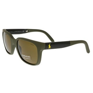 Ralph Lauren PH4089 521673 Matte Green Square Sunglasses
