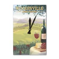 Woodinville Wine Country - Lantern Press Artwork (Acrylic Wall Clock) - acrylic wall clock
