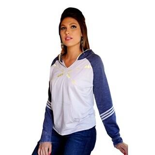 Cruel Girl Western Sweatshirt Womens Hoodie Fleece M Gray CWK9862001