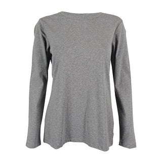 Style & Co. Women's Long Sleeve Solid Top - m