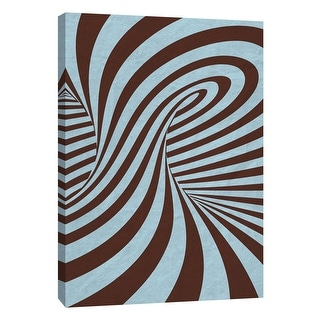 """PTM Images 9-109017  PTM Canvas Collection 10"""" x 8"""" - """"Sky Blue Swirls A"""" Giclee Abstract Art Print on Canvas"""