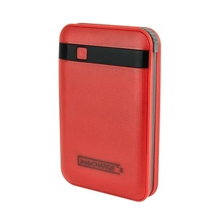 InstaCHARGE 11000mAh Portable Device And Phone Charger - Red