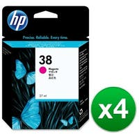 HP 38 Magenta Pigment Original Ink Cartridge (C9416A) (4-Pack)