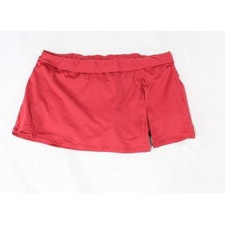 Leilani NEW Red Women's Size 10 Swim Skirt Stretch Side-Slit Swimwear