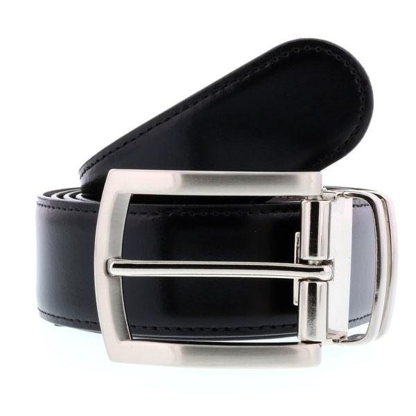 HS Collection HSB 3001 Black/Brown Reversible/Adjustable Mens Belt