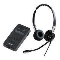 Jabra BIZ 2400 II Duo QD Noise-Canceling Microphone Headset w/ Link 860 Headset Amplifier