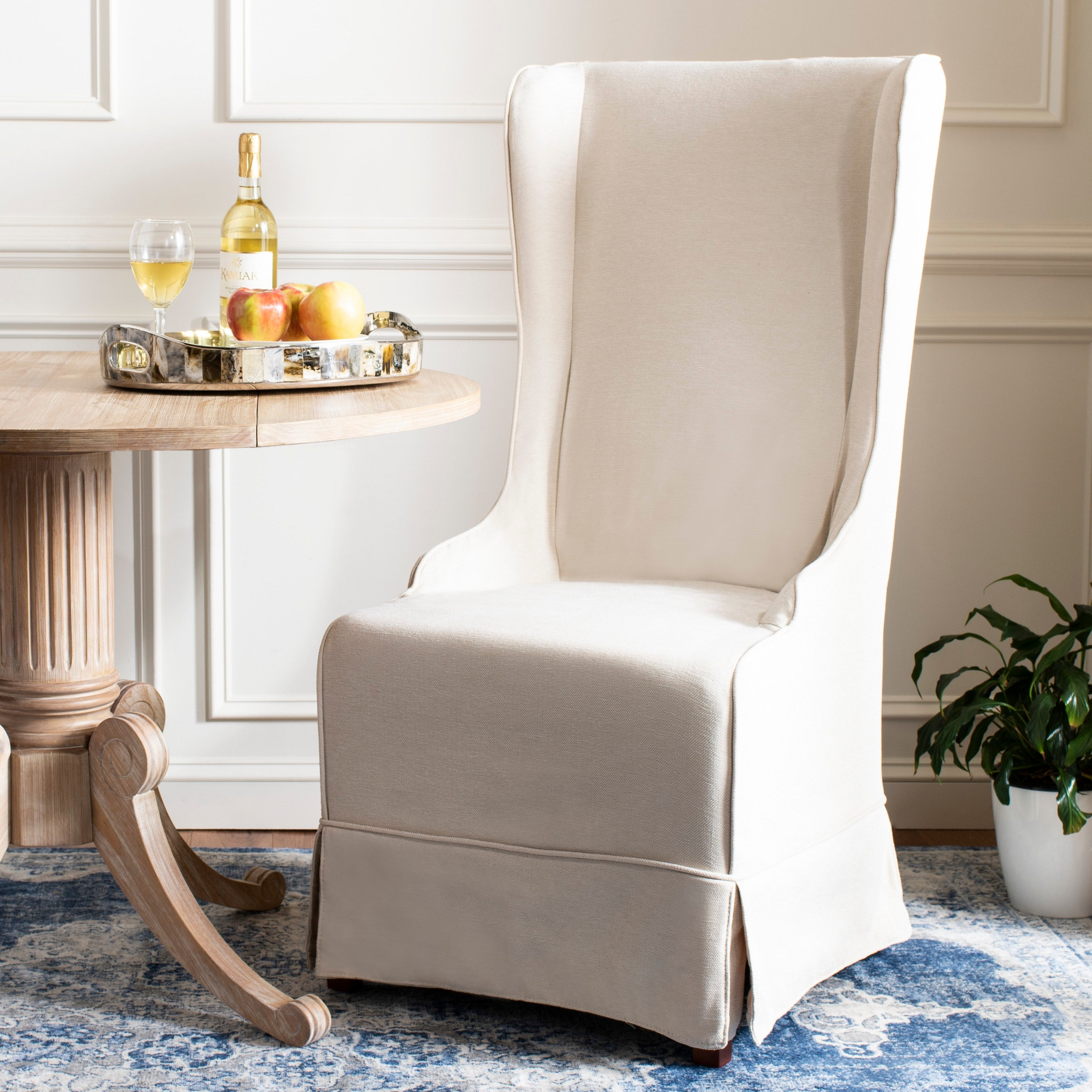 Style 51, Magnolia Brown SoulFeel Set of 4 Dining Chair Covers Stretch Spandex Dining Room Protector Slipcovers