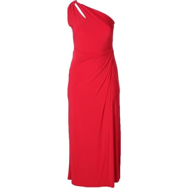 Shop Lauren Ralph Lauren Womens Marva Evening Dress One Shoulder ...