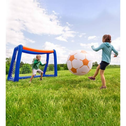 HearthSong 80-in. x 65-in. Giant Inflatable Soccer Set - One-size