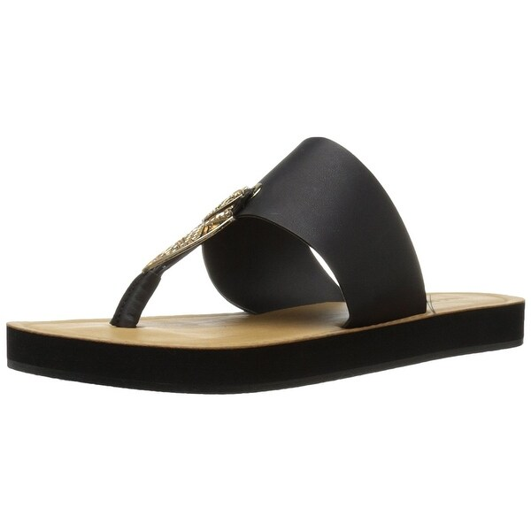 Call It Spring Women's Astalecien Flat Sandal, Black, Size 6.5