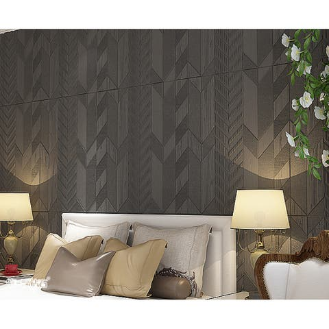 "Premium Peel and Stick 3D Embossed Form Wall Panel, 28""x28""/pc"