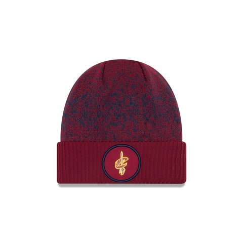 Cleveland Cavaliers 2017 On Court Cuffed Knit Hat