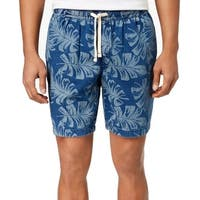 Tommy Hilfiger Navy Blue Mens Size Small S Leaves Printed Shorts