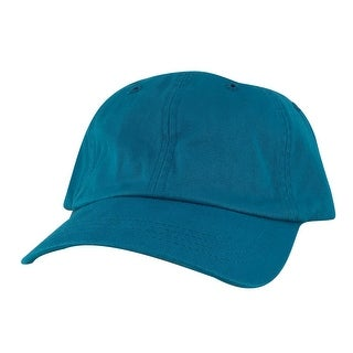 CapRobot Style#101 Unstructured Low Profile Strapback Hat Dad Cap - Aqua Blue Teal