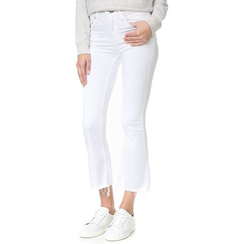 Rag and Bone/JEAN Womens Crop Flare Jeans, Bright White, Size 31