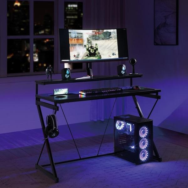 Code Battlestation Gaming Desk with RGB LED Lights. Opens flyout.