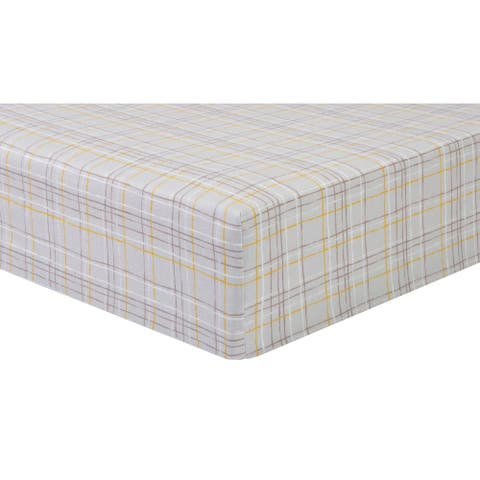 Country Plaid Flannel Fitted Crib Sheet