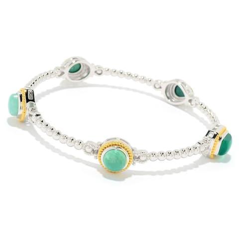 "Dallas Prince Designs 7.5"" or 8"" Multi Gemstone Beaded Bangle Bracelet"
