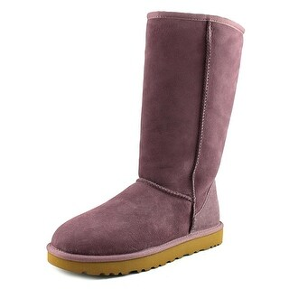 Ugg Australia Classic Tall Women  Round Toe Suede Purple Winter Boot