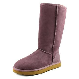 Ugg Australia Classic Tall Round Toe Suede Winter Boot (Option: 10)|https://ak1.ostkcdn.com/images/products/is/images/direct/9be97724314698325affbbd51c552cb3abdafdb6/Ugg-Australia-Classic-Tall-Women-Round-Toe-Suede-Purple-Winter-Boot.jpg?impolicy=medium