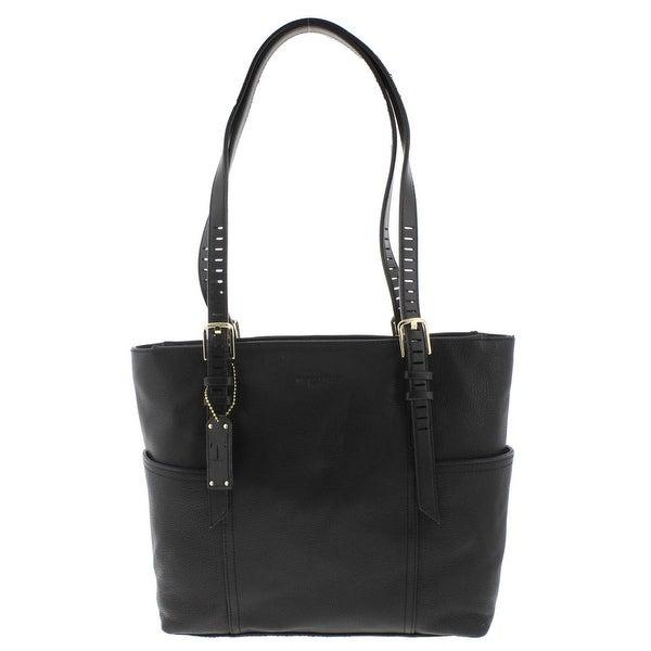 Tignanello Womens Millie Tote Handbag Leather Pebble Large