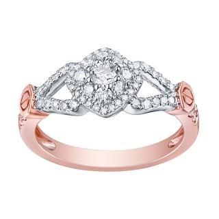 Fabulous 0.60 Carat Round Brilliant Cut Natural G-H/SI1 Diamond Engagement Designer Ring - White G-H