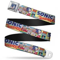Sonic Comic Hangtag Sonic Racing Pose Full Color Blue Sonic Comic #13 Sonic Seatbelt Belt
