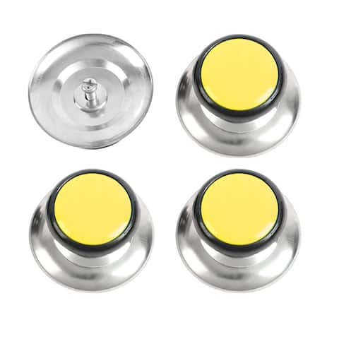 Pot Lid Knob Durable Universal Kitchen Cookware Cover Replacement Yellow 4pcs