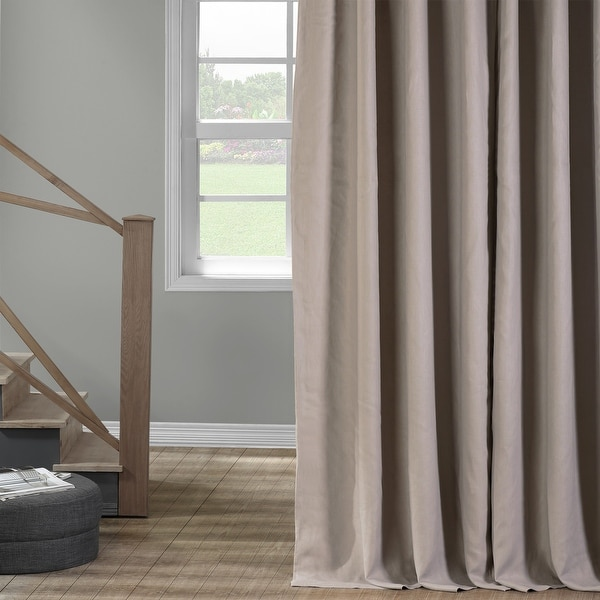 Exclusive Fabrics French Linen Lined Curtain Panel. Opens flyout.