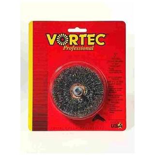 Weiler 36011 Vortec Pro Wire Wheel Brush, Round Shank, Carbon Steel