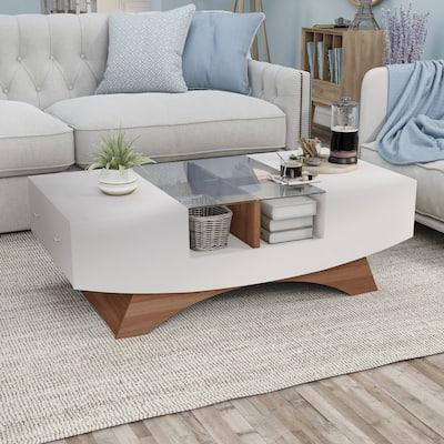 Furniture of America Angelic Contemporary 49-inch 4-shelf Coffee Table