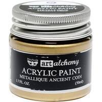 Finnabair Art Alchemy Acrylic Paint 1.7 Fluid Ounces-Metallique Ancient Coin