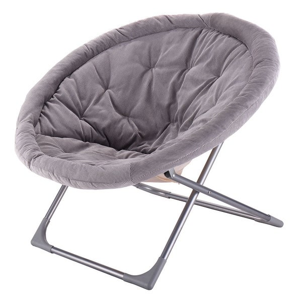 Shop Costway Oversized Large Folding Saucer Moon Chair