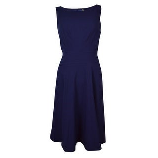 Marc New York Women's Scoop Neck Sleeveless Flared Dress