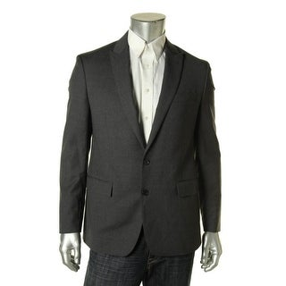 Ryan Seacrest Mens Wool Heathered Two-Button Blazer