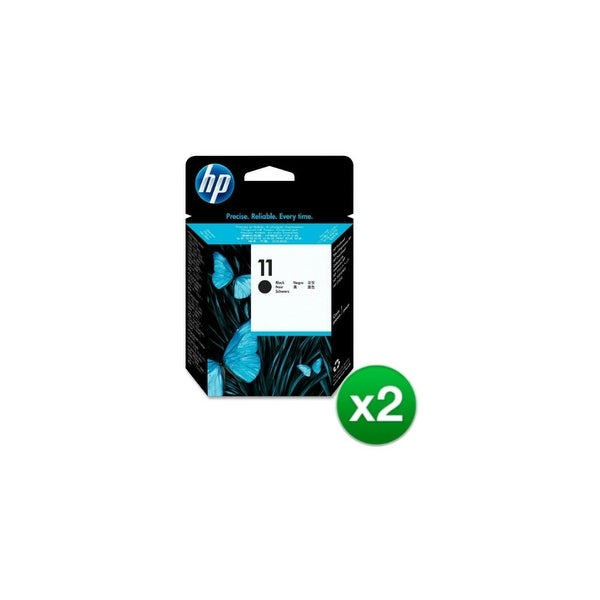 HP 11 Black Printhead (C4810A) (2-Pack)