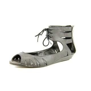 Mia Damsel Women Open Toe Synthetic Black Gladiator Sandal