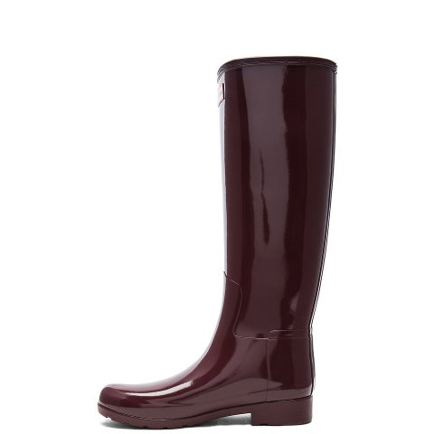 Hunter Womens Original Tall Gloss Closed Toe Knee High Rainboots