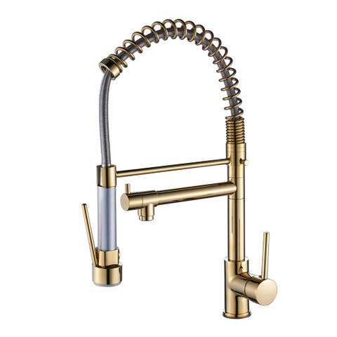 2-Function 1-Handle Commercial Pulldown Kitchen Faucet