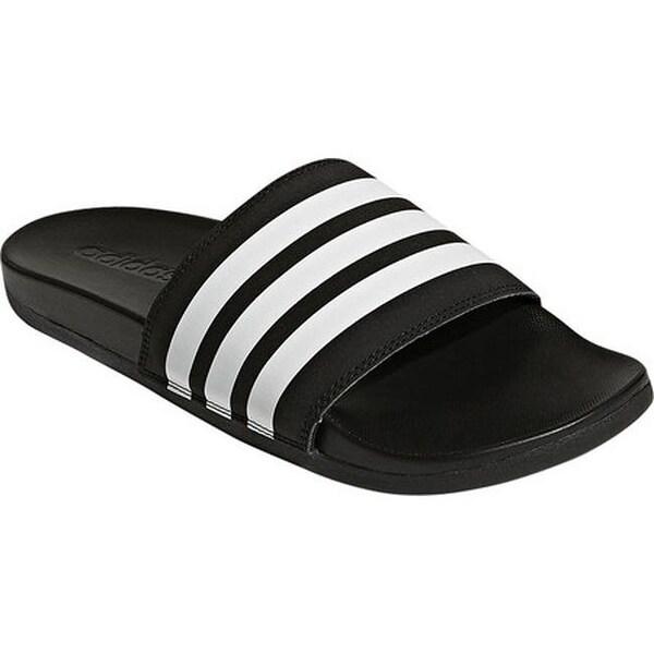 66d6c51d862e adidas Men  x27 s adilette Cloudfoam Plus Stripes C Sandal Black White