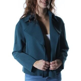 ANNE KLEIN $129 Womens New 1380 Green Blazer Wear To Work Jacket 2 B+B
