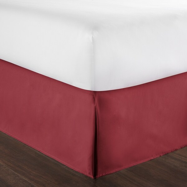 Dust Ruffle Bed Skirt Ivory 100/% Cotton with Split Corner 400 Tc Easy Fit