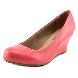 Forever 21 Doris-23 Women Open Toe Synthetic Pink Wedge Heel