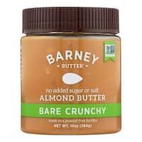 Barney Butter Almond Butter - Bare Crunchy - Case of 6 - 10 oz.