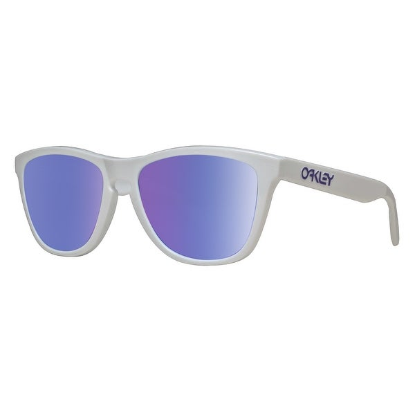 1d28fddae5 ... free shipping oakley frogskins heritage oo9013 35 polished white violet iridium  sunglasses polished white 51mm b56c7